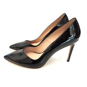 Stuart Weitzman Anny Black Patent Leather Heels Sh
